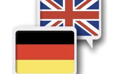 75 англійських слів у німецькій мові